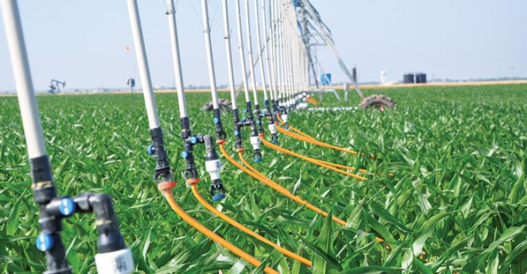 Mobile drip irrigation combines advantages of subsurface drip and low energy precision application irrigation systems says a Kansas State University water management researcher