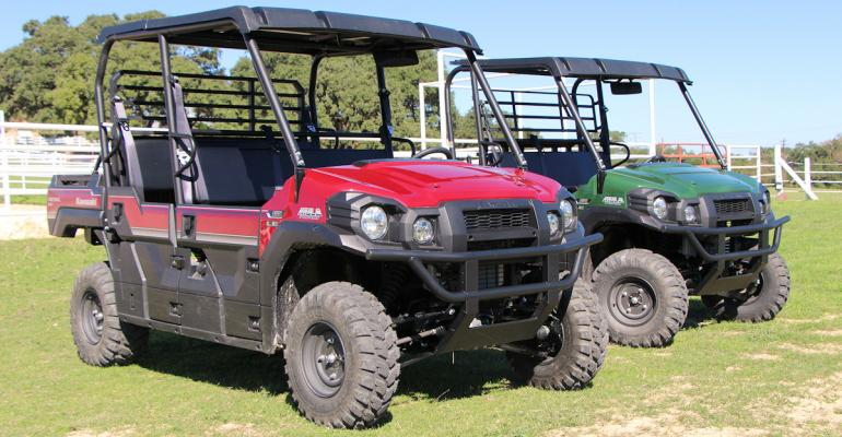 The 2016 Kawasaki Mule ProDX and DXT bring diesel engines to its line of sidebyside utility vehicles A 993cc threecylinder diesel engine powers both the onerow and tworow configurations