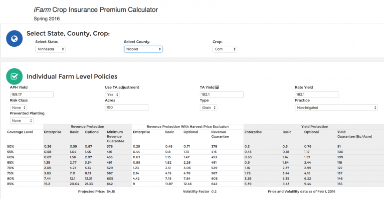 Online crop insurance decision tools available