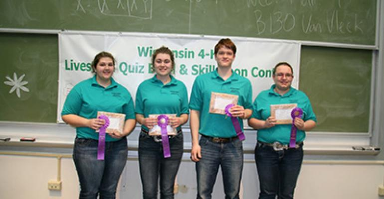 See who won the Wisconsin State 4-H Livestock Quiz Bowl