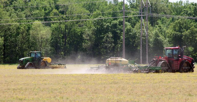 Farmers prepare to plant a field that has been quotburned downquot with glyphosate herbicide in the Mississippi Delta