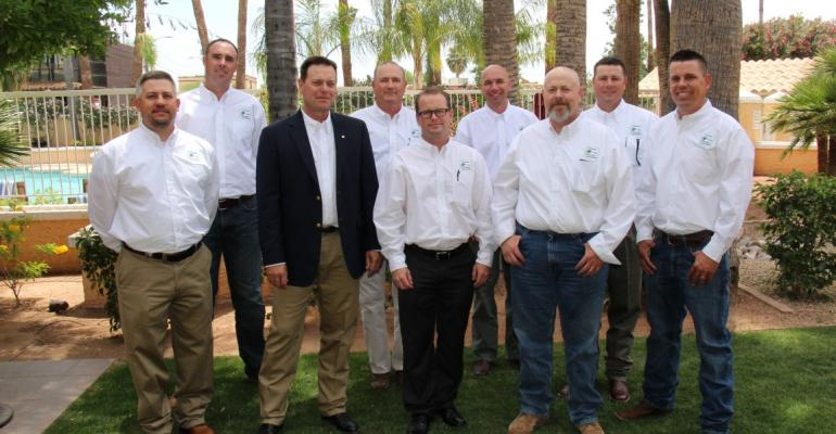 Members of the 20162017 Arizona Crop Protection Association board of directors include front row from left  Mike Charles President Andy Hancock Willie Negroni Clark Webb and Cory Weddle Back row from left  Chris Denning Ken Narramore Treasurer Hank Mager and Andy Hampton Not pictured are Ty Currie and Vice President Jeff Boydston
