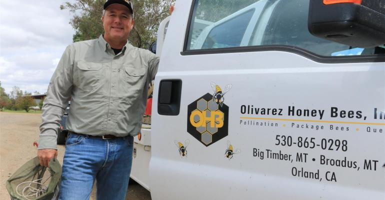 Ray Olivarez produces queen honeybees in northern California and Hawaii