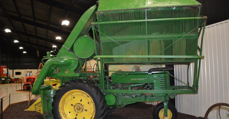 Farm equipment like this early cotton stripper has gone through significant change over the past fifty years as have other aspects of agriculture