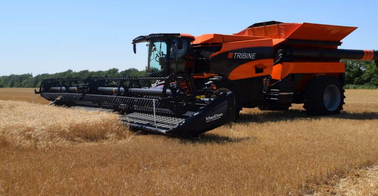 With its 1000bushel grain tank and 500gallon fuel tank the Tribine Harvester is about productivity