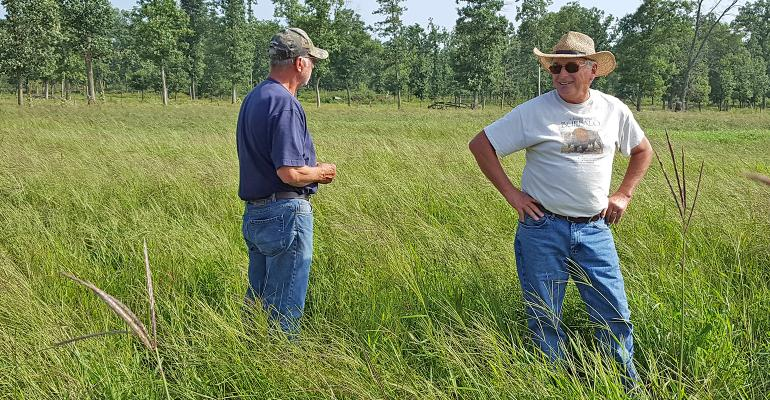 Dave Fogerty standing in field of crabgrass