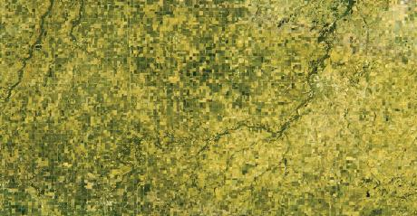 satellite hyperspectral image of farms