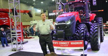 Bill Weber, Case IH, speaking at National Farm Machinery Show