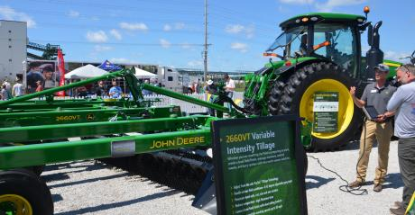 machinery display at farm show