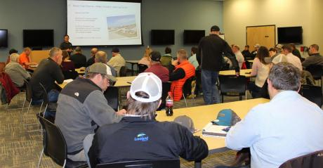 Growers and industry representatives gather for the UNL-TAPS kick-off meeting in March. Photo credit: Krystle Rhoades.