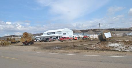 Hay trucks were lining up at hay donation sites – including the parking lot at Verdigre Stockyards and Zim Metal and Welding near Verdigre