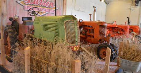 Tractors on display at the Lester F. Larsen Tractor Test and Power Museum