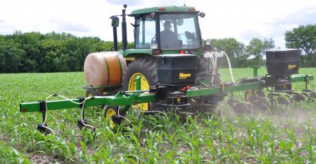 tractor interseeding cover crops