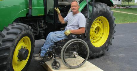 Farmer Doug Ver Hoeven is partnering with Michigan AgrAbility to use his farm and assistive technology tools to allow others to try before they buy.