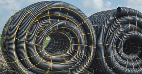 coiled drainage tubing