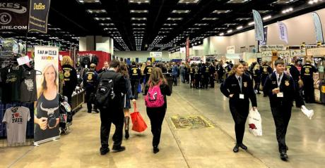 Attendees wander the National FFA Convention