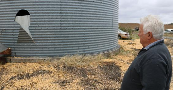 Rescue from grain bin sets farmer on right course