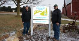 Jon (left) and Josh Miller's long-time commitment to good environmental practices made MAEAP verification an easy process.