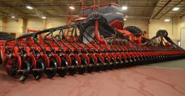 The Horsch Avatar SD40, shown here at an event at the Buffalo County Fairgrounds, was first launched in Europe three years ago. Earlier this year, Horsch announced the launch of its flagship central filled single disc seeder in Nort