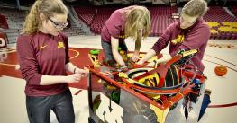 University of Minnesota students in Bot Shot Challenge