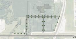 This site map shows the Rail Campus where Scoular's new freeze-drying facility will be located near Seward, Neb.