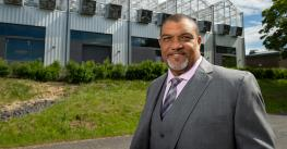 Washington State University CAHNRS Dean André-Denis Wright at Plant Growth Facility