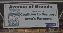 avenue of breeds sign at the iowa state fair