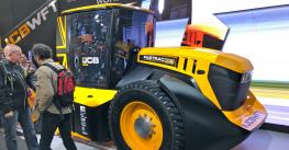 world's fastest tractor, built by JCB, displayed at Agritechnica