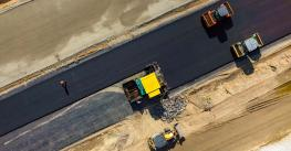 Aerial view of RoadConstruction