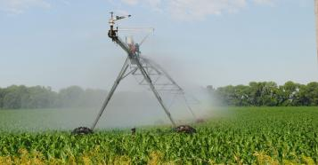 Irrigation equipment in field