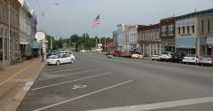 Main street of small rural town