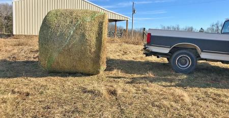 round bale and pickup