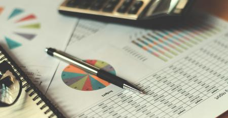 accounting table and charts