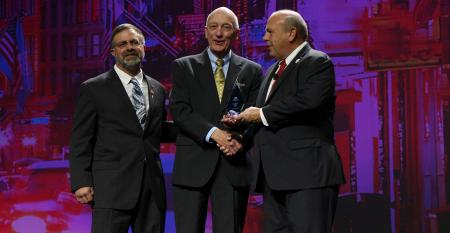 Dick Newpher received the Founders Award at this year's AFBF Convention from Zippy Duvall and Rick Ebert