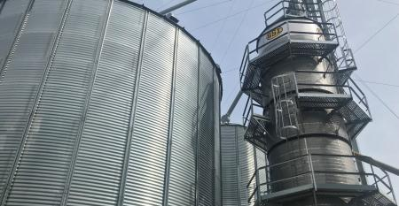 grain bin and dryer