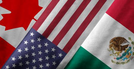 Canada, United States, Mexico flags