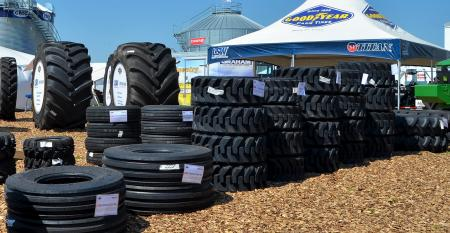 stacks of titan tires at HHD