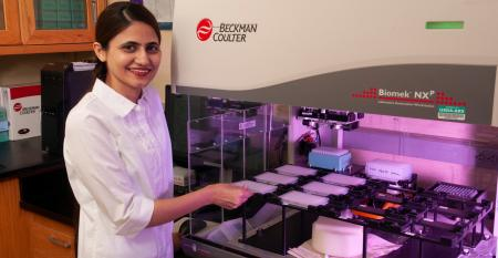 Nida Ghori, a doctoral student in K-State's Department of Agronomy