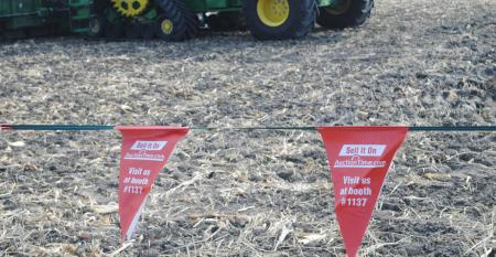 Safety pennants by Colby Canvas hanging in field at HHD demonstrations