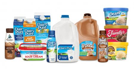 Assortment of dairy products from Dean Foods