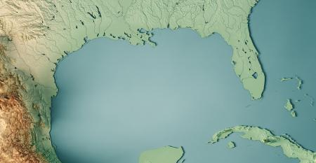 Gulf of Mexico 3D view