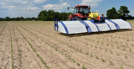 The Blue River Technology See and Spray offers vision-based weed targeting to maximize weed control while also reducing herbicide use.