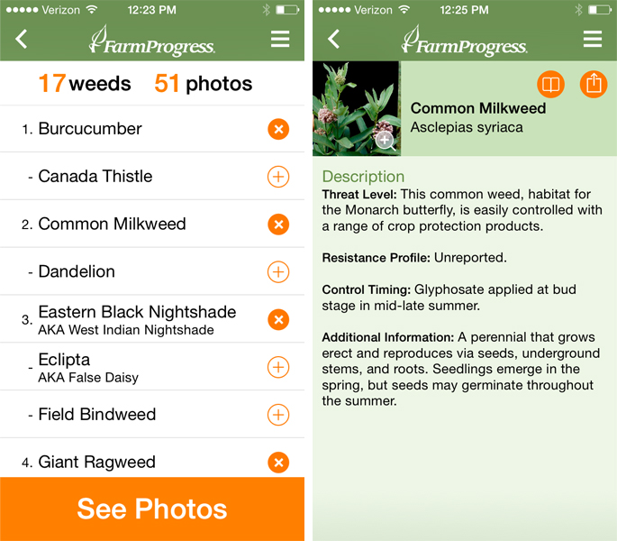 ag weed id mobile app weed list and information